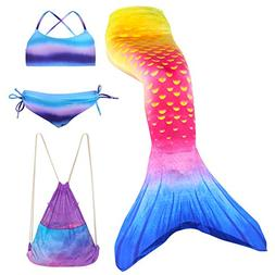 Play Tailor Girls Swimmable Mermaid Tails with Bikini and Ba