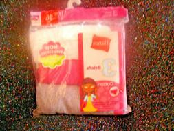 HANES GIRLS TAGLESS BRIEFS-SIZE 16-ASSORTED COLORS-3 PACK-NI