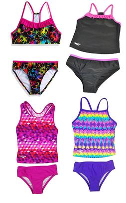 Speedo Girls Tankini 2 Piece Swimsuit