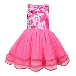 Girls Tutu Dress Kids My Little Pony Print  Casual Party Bir