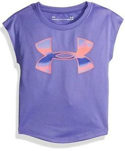 Under Armour Girls Violet & Bright Coral Dry Fit Top Size 5