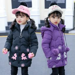 Girls Winter Coats Kids Jackets For Girl Warm Cotton-padded
