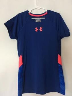 Girls Youth Under Armour Heat Gear YMD Fitted Short Sleeve S