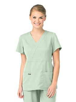 Grey's Anatomy 4153 Women's Mock Wrap Top Pistachio XS