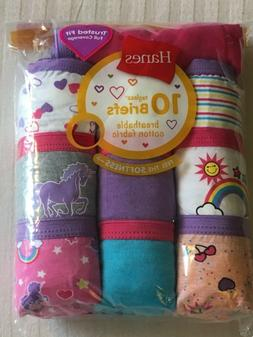 H1 10-Pack Hanes Girls Cotton Briefs Assorted Colors/Prints