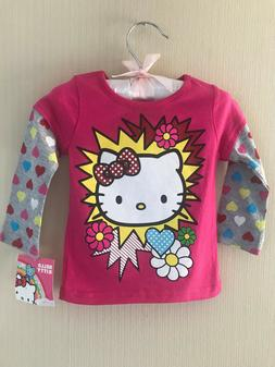Hello Kitty 12 Months Pink Long Sleeve Tee Top Baby Girl Clo