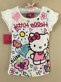 Hello Kitty Size 5 Short Sleeve Tee Top Girls Clothes White