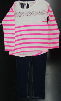 Infant & Girls Limited Too $42-$44 2pc Neon Pink & White Str