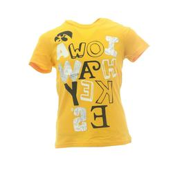Iowa Hawkeyes Official NCAA Apparel Kids Youth Girls Size T-