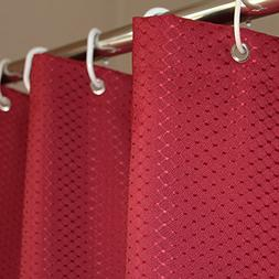 Eforcurtain Jacquard Solid Red Color, Vintage Fashion Waffle