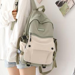 Japanese Work Clothes Women's Backpack for Girls Panelled Mi