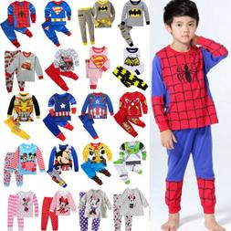 Kids Baby Boys Girls Long Sleeve T-Shirt Tops Pants Trousers