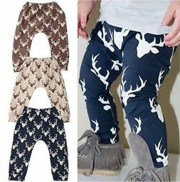 Kids Baby Boys Girls Printed Clothes Elastic Harem Pants Tod