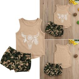 Kids Baby Girls Boy Clothes Clothing Outfits Sets Girls T-Sh