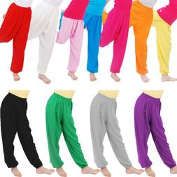Kids Boys Girls Baggy Pants Sport Trousers Sleepwear Summer