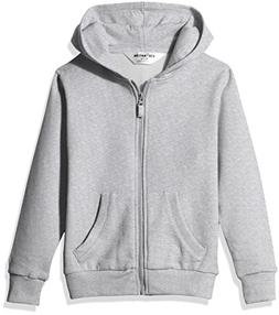 Kid Nation Kids' Brushed Fleece Zip-up Hooded Sweatshirt for