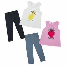 MINIKIDZ Kids Childrens Girls Novelty Top & Leggings Set Sum