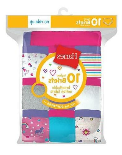 10 pack girls cotton briefs assorted colors