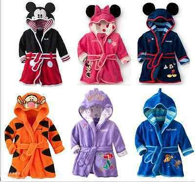 1pcs Baby Girls Kids Boy Night Bath Robe Sleepwear Homewear