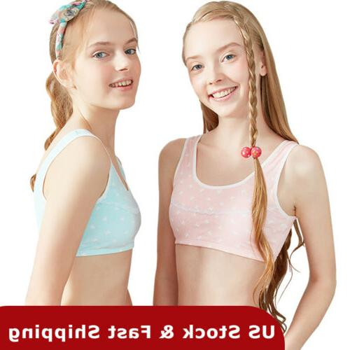 THREEGUN Girls Training Bra Free A Cup Bra Stretch