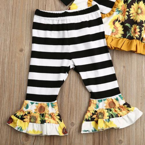 2PCS Toddler Dress Striped Outfits