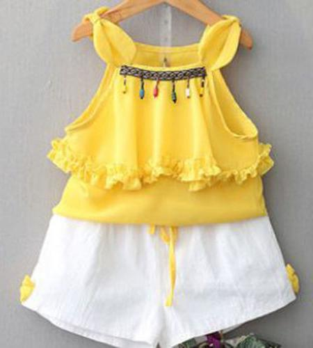 Toddler Kids Baby Girls Outfits Natinal Style Clothes Strap