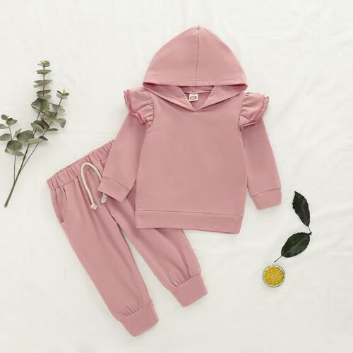 2PCS Toddler Kids Baby Girl Tops+Pants Outfits Clothes US