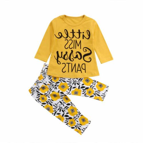 2pcs toddler kids baby girl summer clothes