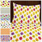 3pc Emoji Print Sheet Set Twin Size Microfiber Bedding Flat