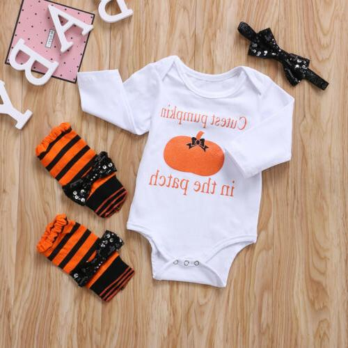3PCS Baby Halloween Clothes Outfit Set