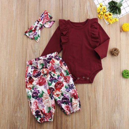 Girls Tops Pants Outfits Set Clothes 0-18M