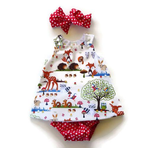 US Baby Girl Outfit Clothes Tops Dress Set