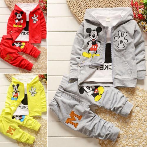 Toddler Kids Baby Girl Minnie Tops Pants Set