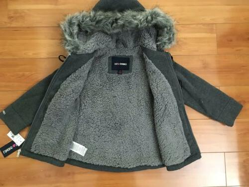 #4 Girls Too Fur Hooded Jacket Size Small