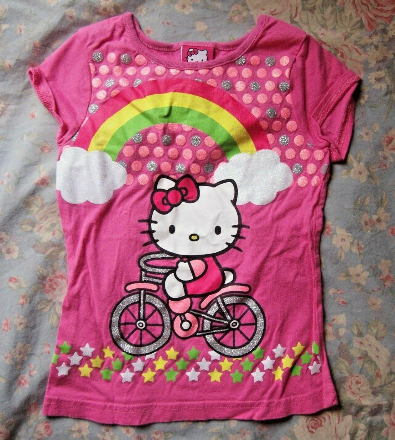 adorable pink glitter girls t shirt size