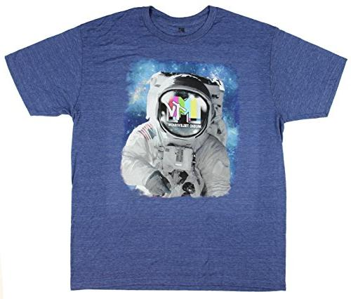 astronaut spaceman graphic t shirt medium