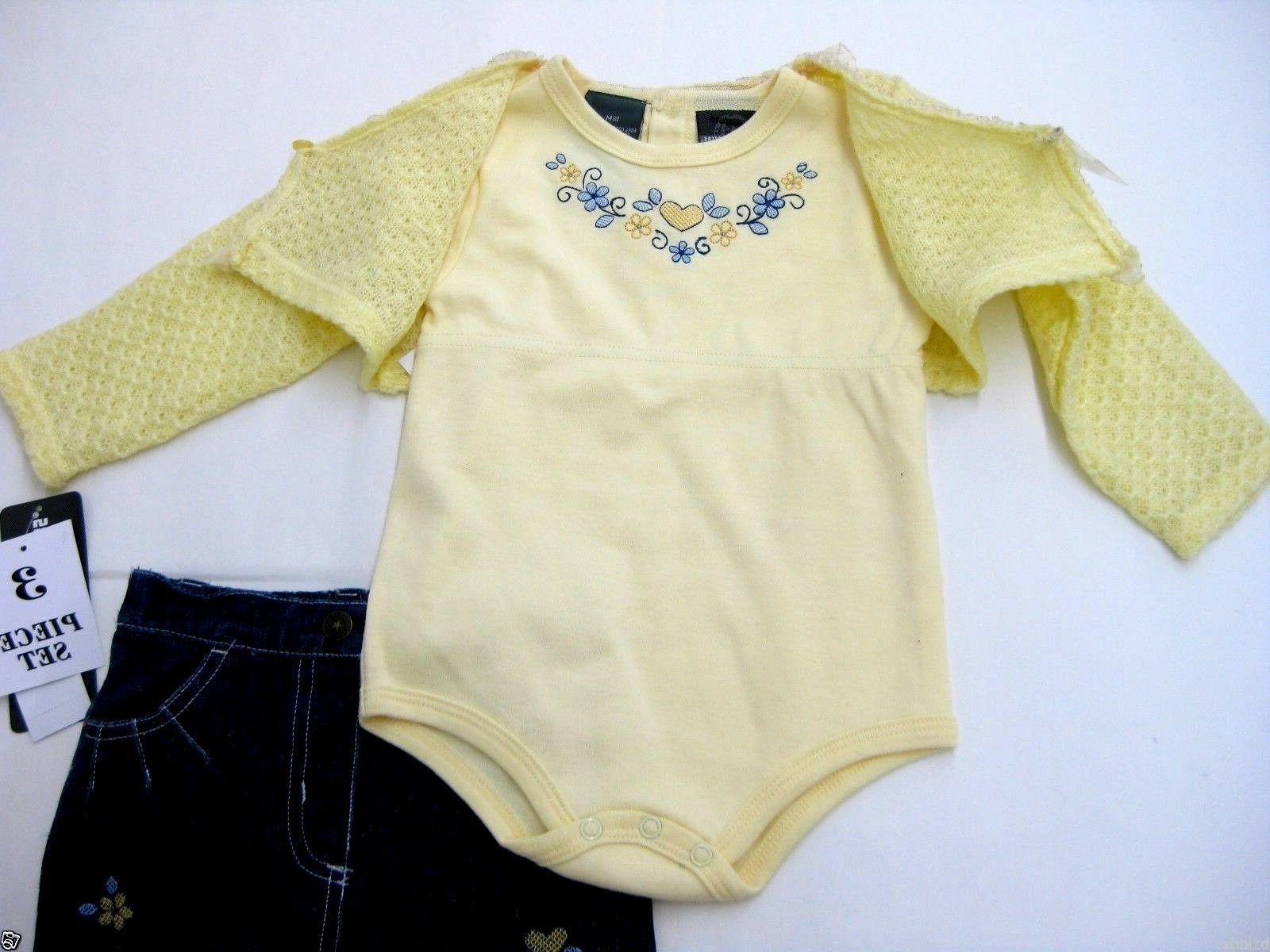 Baby Clothes Girl Suit Set Long 18m
