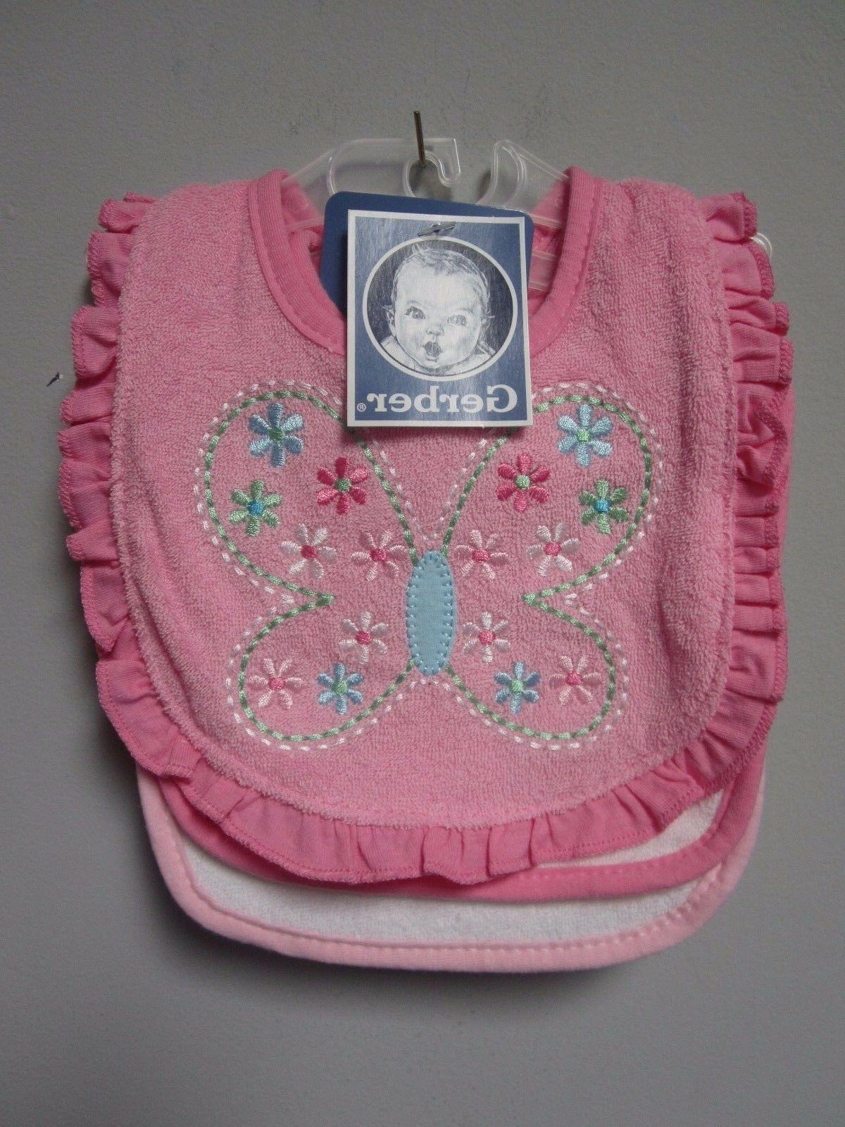 Gerber Girl Pink Butterfly/Flower Baby Clothes Shower