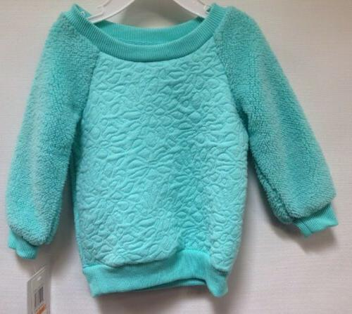 baby girl clothing faux fur sweatshirt sz