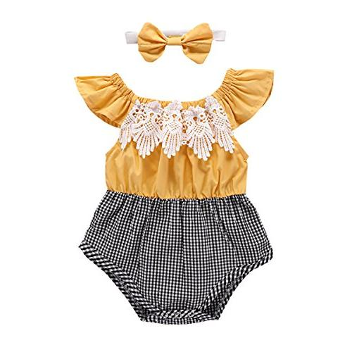 baby girl s romper ruffle sleeve lace