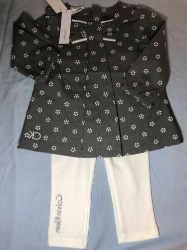 Girls 18m Calvin Klein Clothes Lot Outfit NWT Toddler Baby L