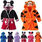 Baby Kids Boys Girls Warm Hooded Bath Robe Cartoon Nightwear