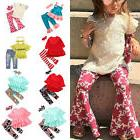 Baby Kids Girls Outfits T-shirt Tops Flared Long Pants Bell-