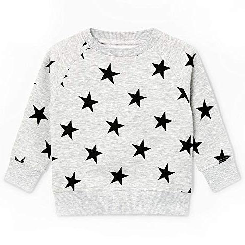 BCVHGD Girls Boys Shirt Long Tops 2018 Winter Clothes Pullover Thick 3047