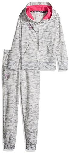 Limited Too Girls' Big 2 Piece French Terry Set , Heather Gr