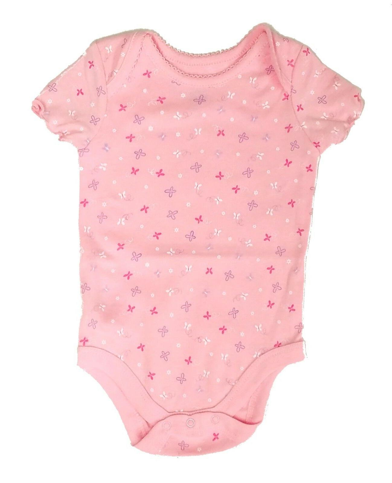 Newborn Bodysuit Pink Butterfly Toddler Months