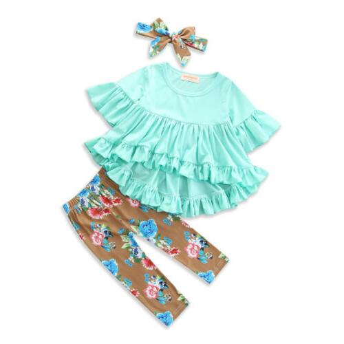 Boutique Toddler Kids Girl Pants Legging Outfit Clothes US