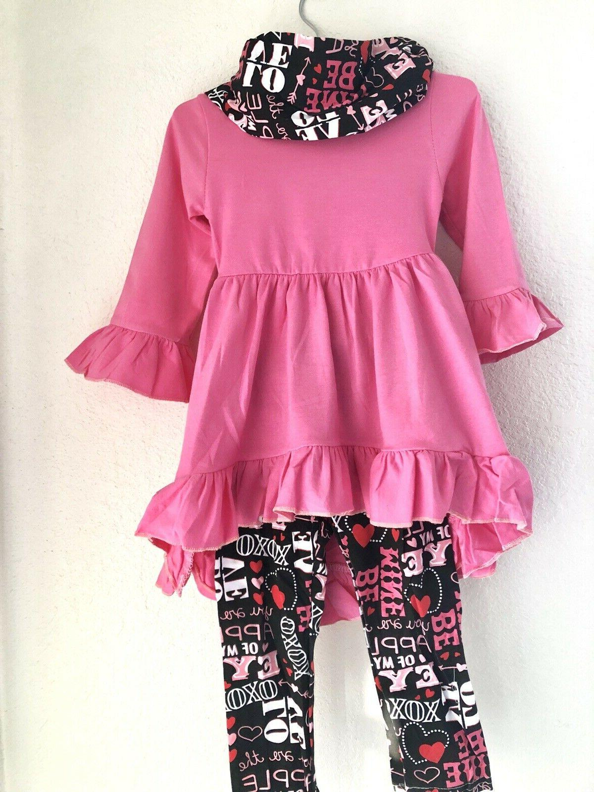 Boutique USA Clothes Ruffle Tops Set Outfit FREE SHIP