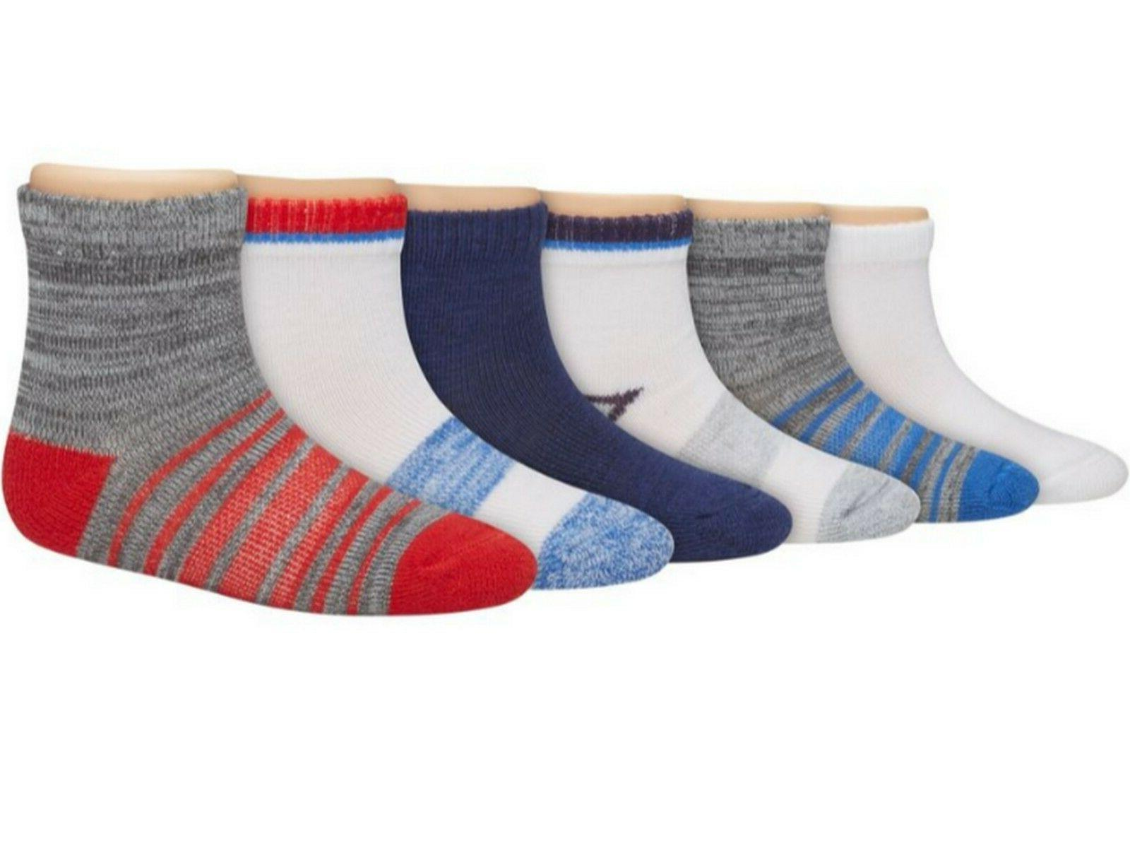 Hanes Boys Toddler Ankle Socks 6-Pack TB27W6