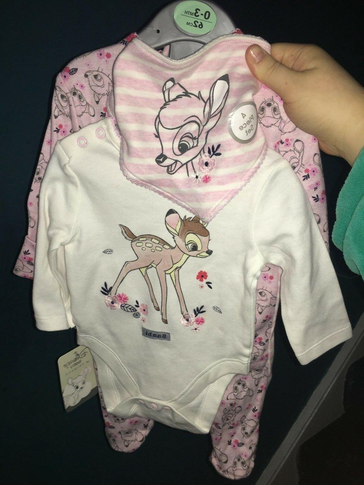 Brand New Baby Girl's Primark Bambi Baby Clothing Outfit